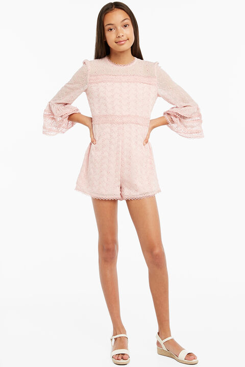 AUDREY TRIM PLAYSUIT in colour HEAVENLY PINK