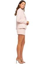 CIARA BOUCLE BLAZER in colour PETAL PINK