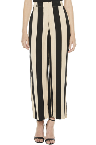 DAKOTA STRIPE PANT in colour CAVIAR