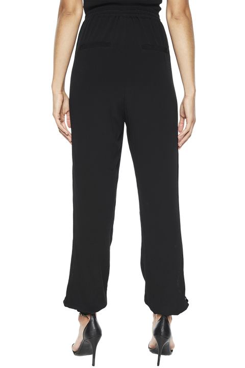 PEARL TRIM PANT in colour CAVIAR