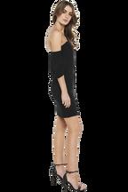 AURORA DRESS in colour CAVIAR