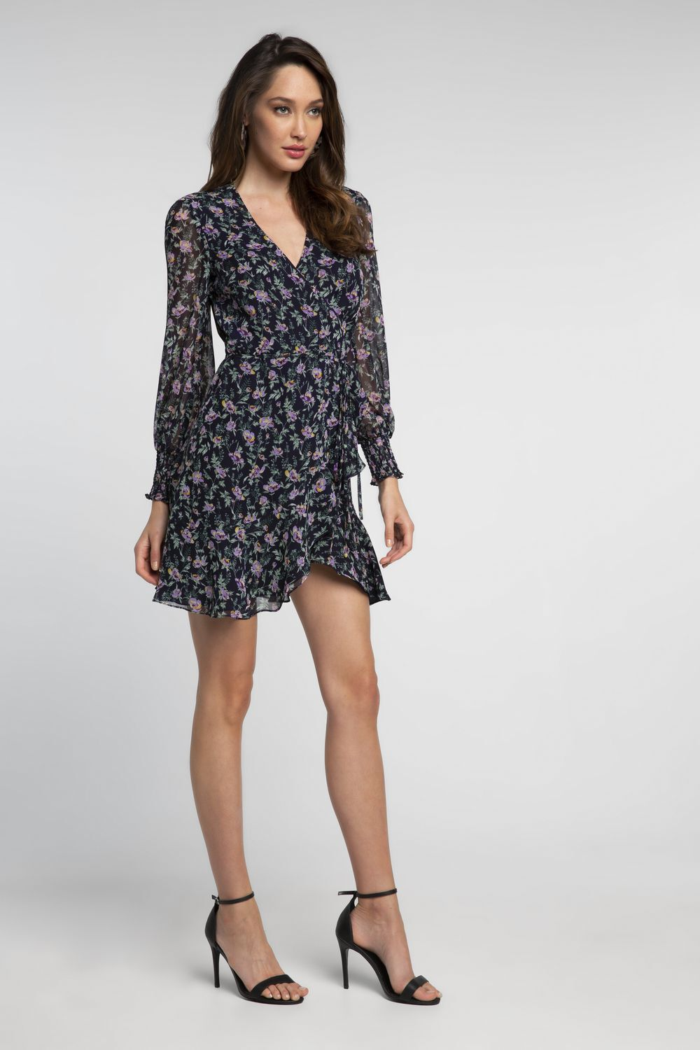 MILEY FLORAL DRESS in colour NAVY BLAZER