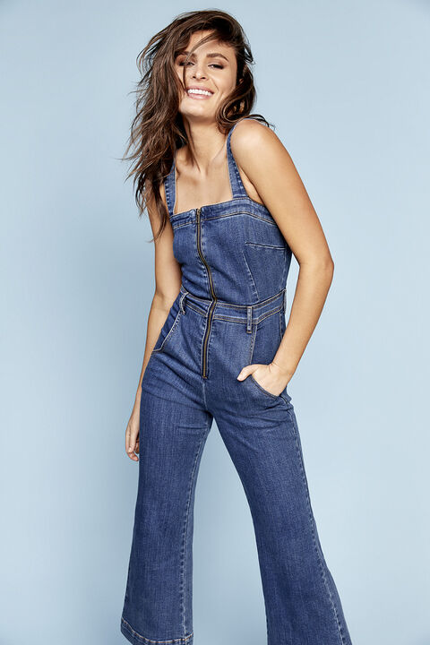 652b2b37309 Off Duty Dressing in colour. Off Duty Dressing in colour · LOLA ZIP DENIM  JUMPSUIT in colour CITADEL ...