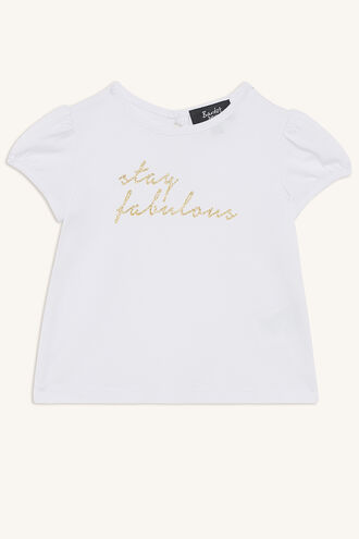 STAY FABULOUS TEE in colour CLOUD DANCER