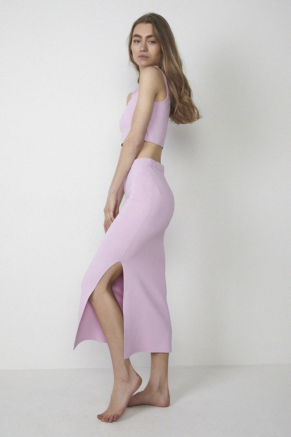 SUSIE KNIT TOP in colour PINK LADY
