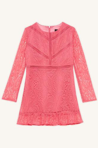 MELLIA LACE DRESS in colour MAGENTA