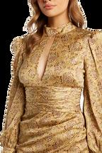 LOUISE TIE DRESS in colour APPLEBLOSSOM
