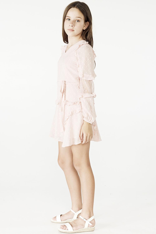 TWEEN GIRL MIMI DOBBY DRESS in colour POTPOURRI