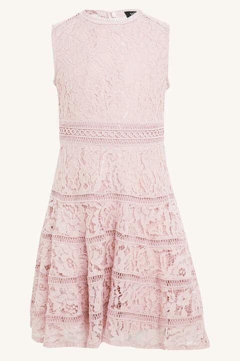 TWEEN GIRL ELISE LACE DRESS in colour MOOD INDIGO