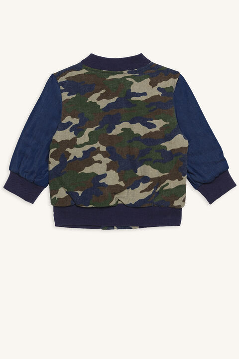 ORLANDO VARSITY JACKET in colour DRESS BLUES