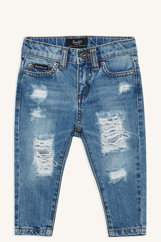 TRASHED SLOUCH JEAN in colour CITADEL