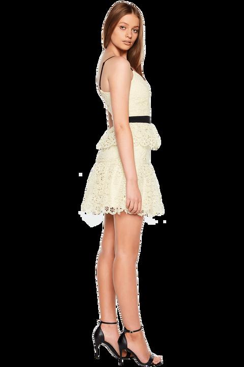OLIVIA TIERED DRESS in colour LEMON MERINGUE