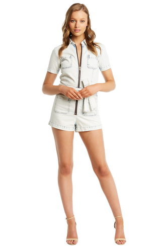 BLEACH WASH ROMPER in colour CITADEL