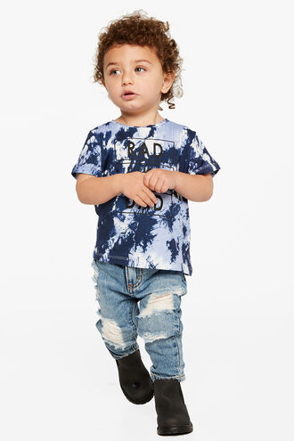 RAD LIKE DAD S/S TEE in colour INSIGNIA BLUE