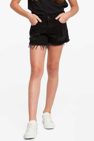 COOPER TRASH DENIM SHORT in colour METEORITE