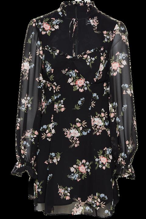 RAINA MINI DRESS in colour ANTHRACITE