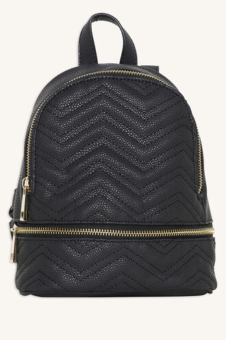 QUILTED ZIG ZAG BACKPACK in colour METEORITE
