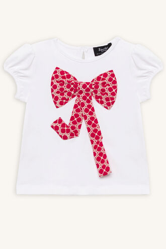 FLORAL BOW TOP in colour BRIGHT WHITE
