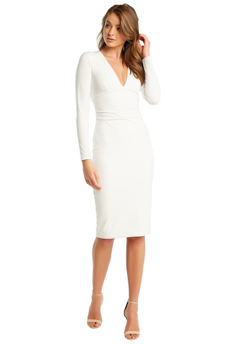 ALI LS DRESS in colour BRIGHT WHITE