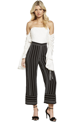 SEALA CUFFED PANT in colour CAVIAR