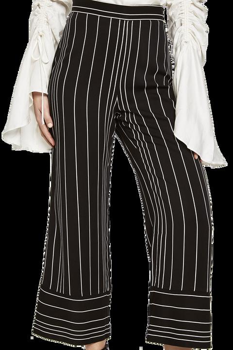SEALA CUFFED PANT in colour CAVIAR