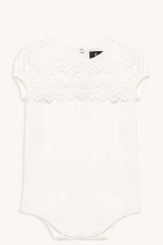 LACE NECK GROW in colour BRIGHT WHITE