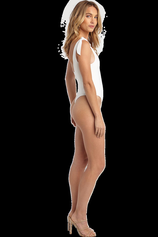 BOW TIE BODYSUIT in colour BRIGHT WHITE