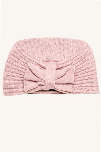 BOW BEANIE in colour PINK CARNATION