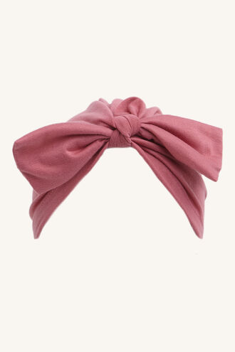 BOW TURBAN in colour PINK CARNATION