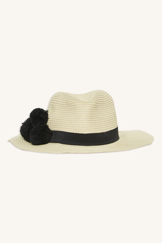 POM FEDORA HAT in colour BEIGE