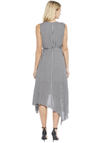ASSYM WRAP DRESS in colour CAVIAR