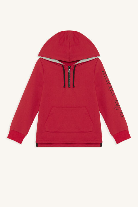 SQUAD HOODY in colour SALSA