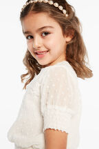 JOSIE LACE TOP in colour TOBACCO BROWN