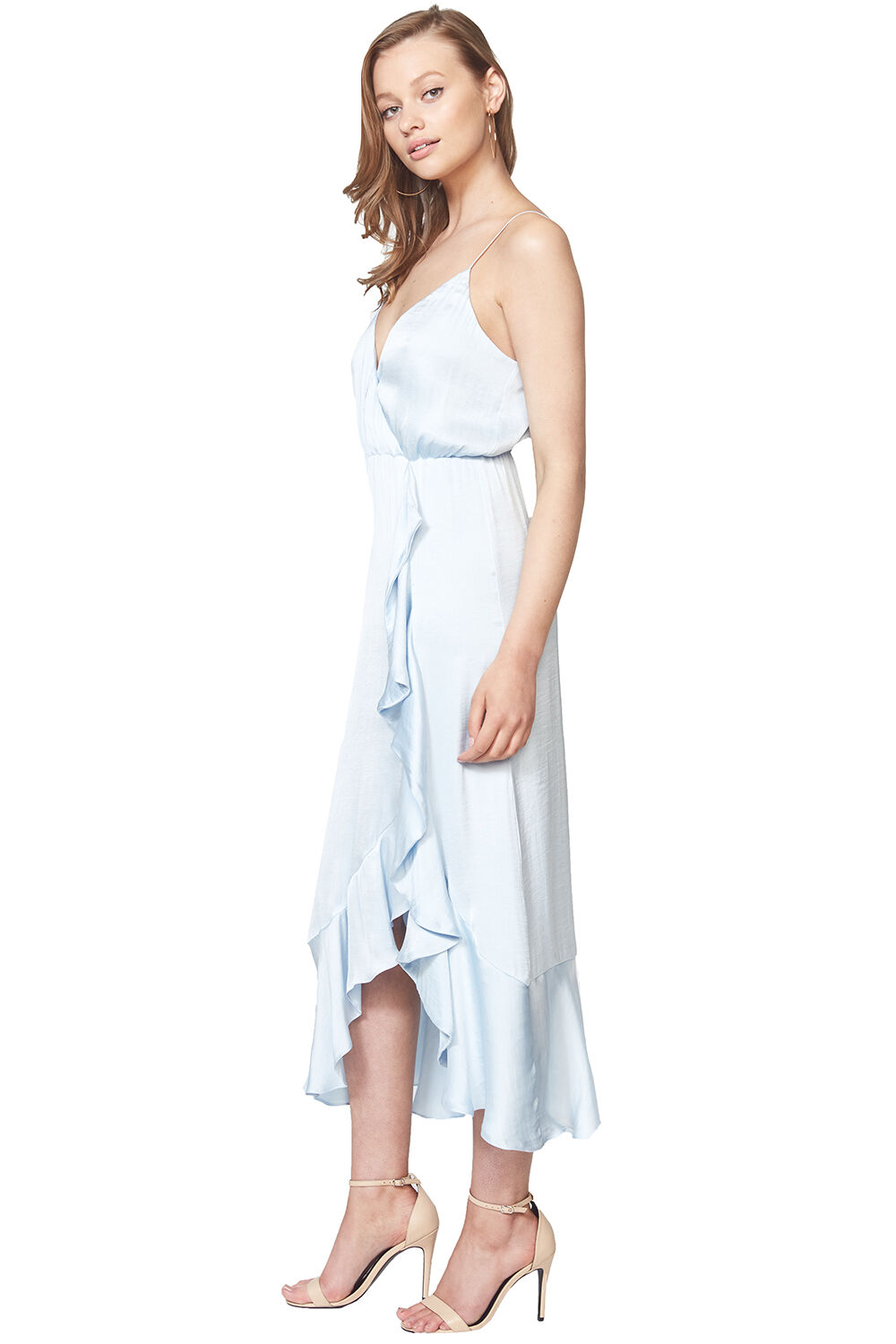 ALIYAH MIDI DRESS in colour AQUAMARINE