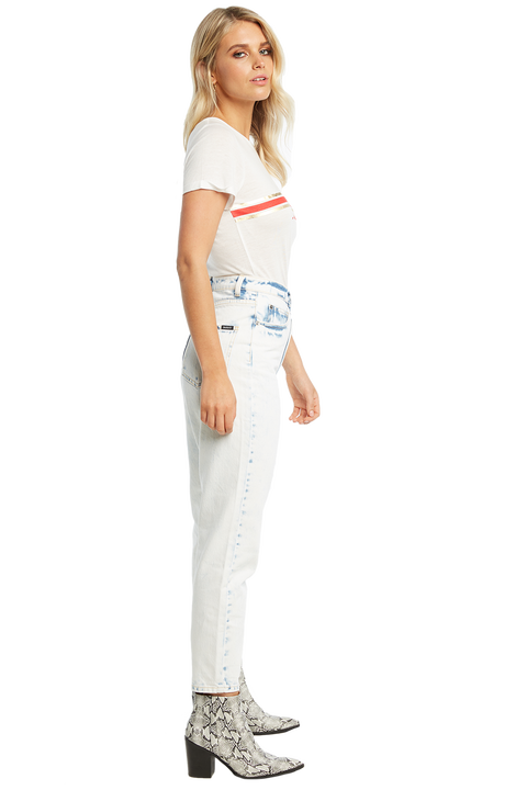 ROUGE TEE in colour BRIGHT WHITE