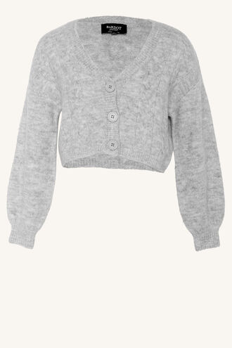 COSY CROP CARDI in colour MOONBEAM
