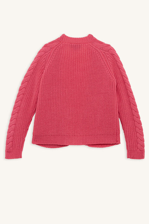 VERA CHUNKY CARDI in colour CANDY PINK
