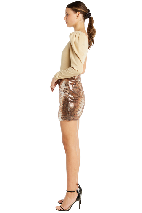 BELLA BODYSUIT in colour CHAMPAGNE BEIGE