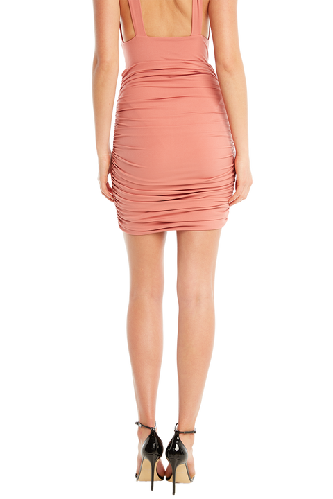 CHARLI MIDI SKIRT in colour BRANDIED APRICOT