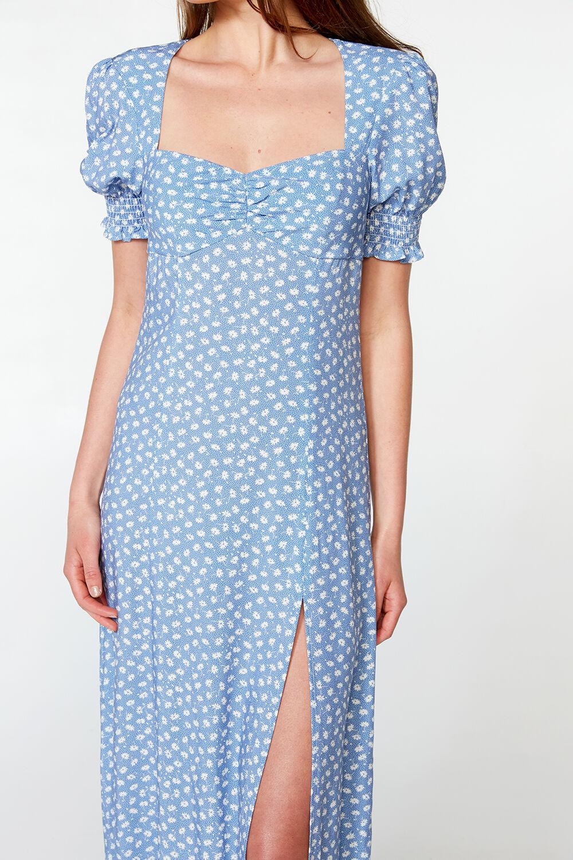 MILLIE FLORAL DRESS in colour POWDER BLUE