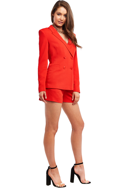 VENICE BLAZER in colour CHERRY TOMATO