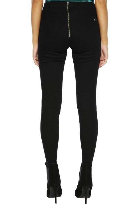GISELE MID SNAP JEAN in colour JET BLACK