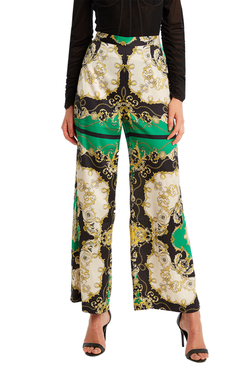 SCARF PRINT PANT in colour CLASSIC GREEN