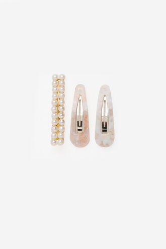 RESIN PEARL CLIP SET in colour PARADISE PINK