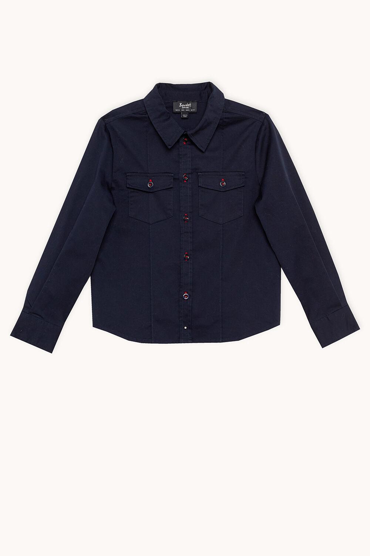 COTTON UTILITY SHIRT in colour BLACK IRIS