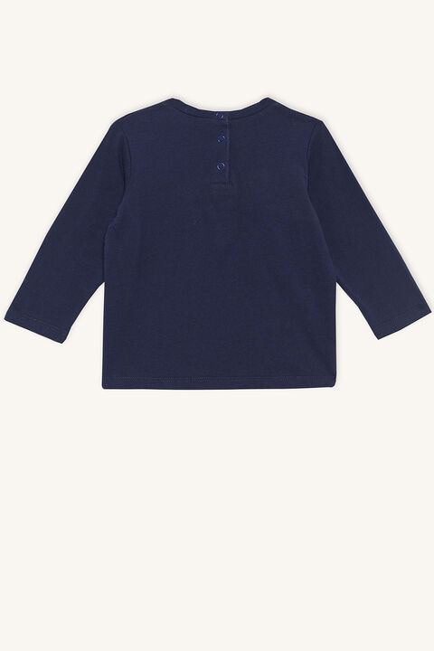PRINCE LONG SLEEVE TOP in colour BLACK IRIS