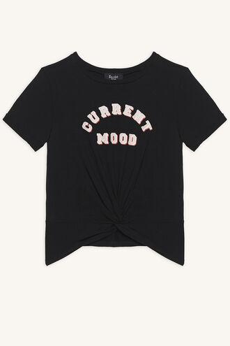 CURRENT MOOD TEE in colour JET BLACK