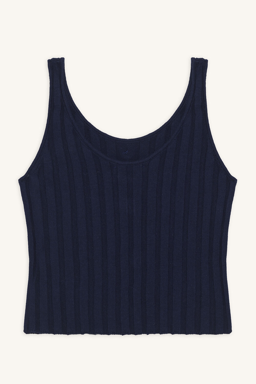 STELLA KNIT TANK TOP in colour PATRIOT BLUE