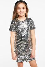 TWEEN GIRL MILEY SEQUIN SHIFT in colour LUNAR ROCK