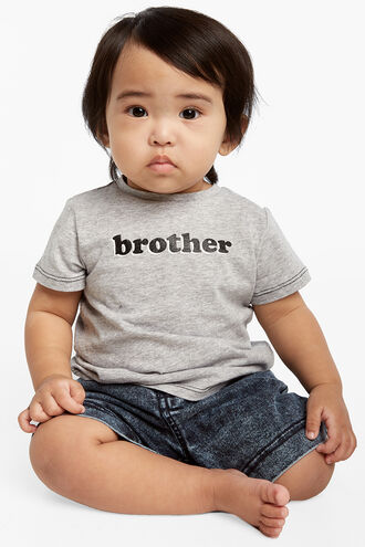 BROTHER S/S TEE in colour VAPOR BLUE